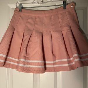 Pleated pink/white flow skirt